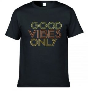 Good Vibes Only Mens Black